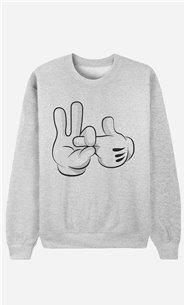 Sweatshirt Mickey Fuck