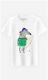 T-Shirt Zebra Surfer