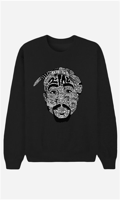 Schwarze Sweatshirt Tupac Shakur