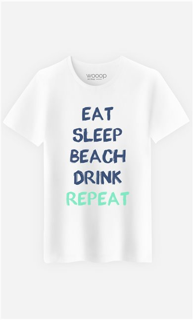 T-Shirt Eat Sleep Beach Drink Repeat