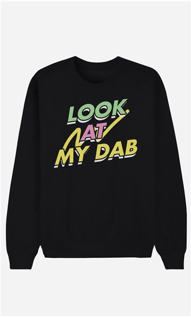 Schwarze Sweatshirt Look at My Dab
