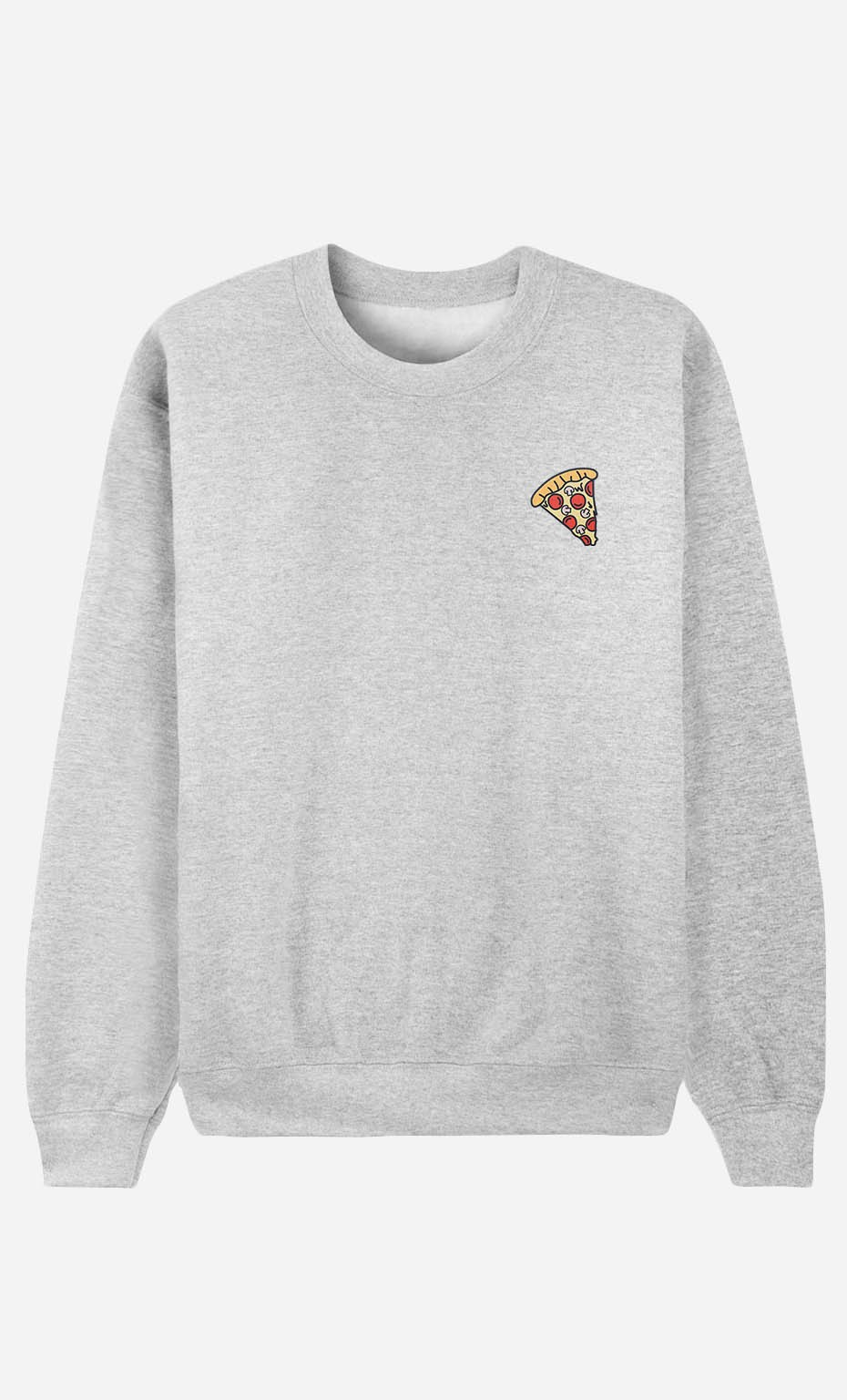 Sweatshirt Pizza - bestickt
