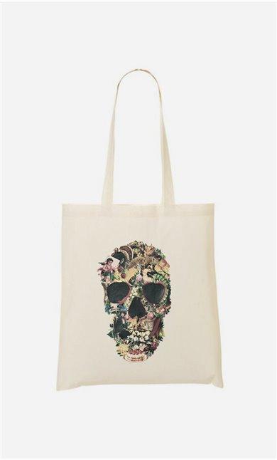Stoffbeutel Vintage Skull