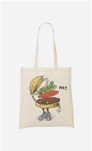Stoffbeutel Burger Greeting