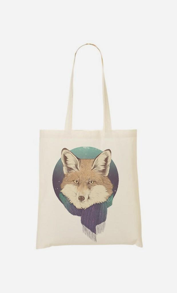 Stoffbeutel Winter Fox