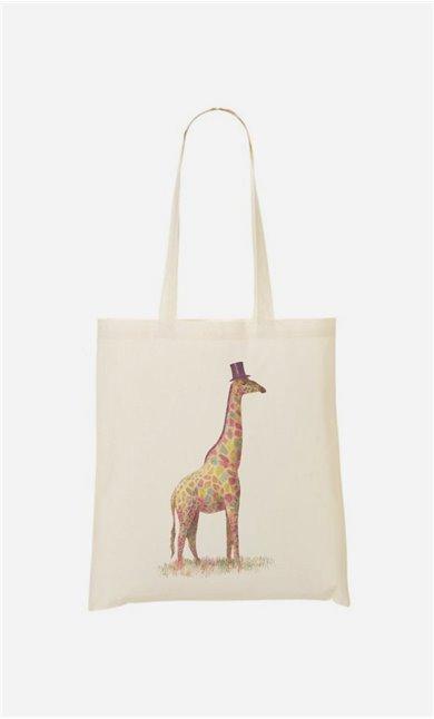 Stoffbeutel Fashionable Giraffe
