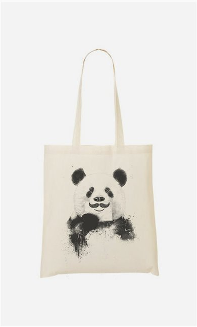Stoffbeutel Funny Panda