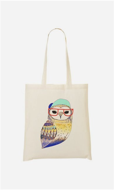Stoffbeutel Hipster Owl