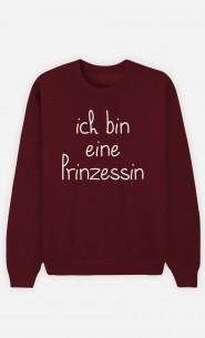 Burgunderrot Sweatshirt Ich bin eine Prinzessin