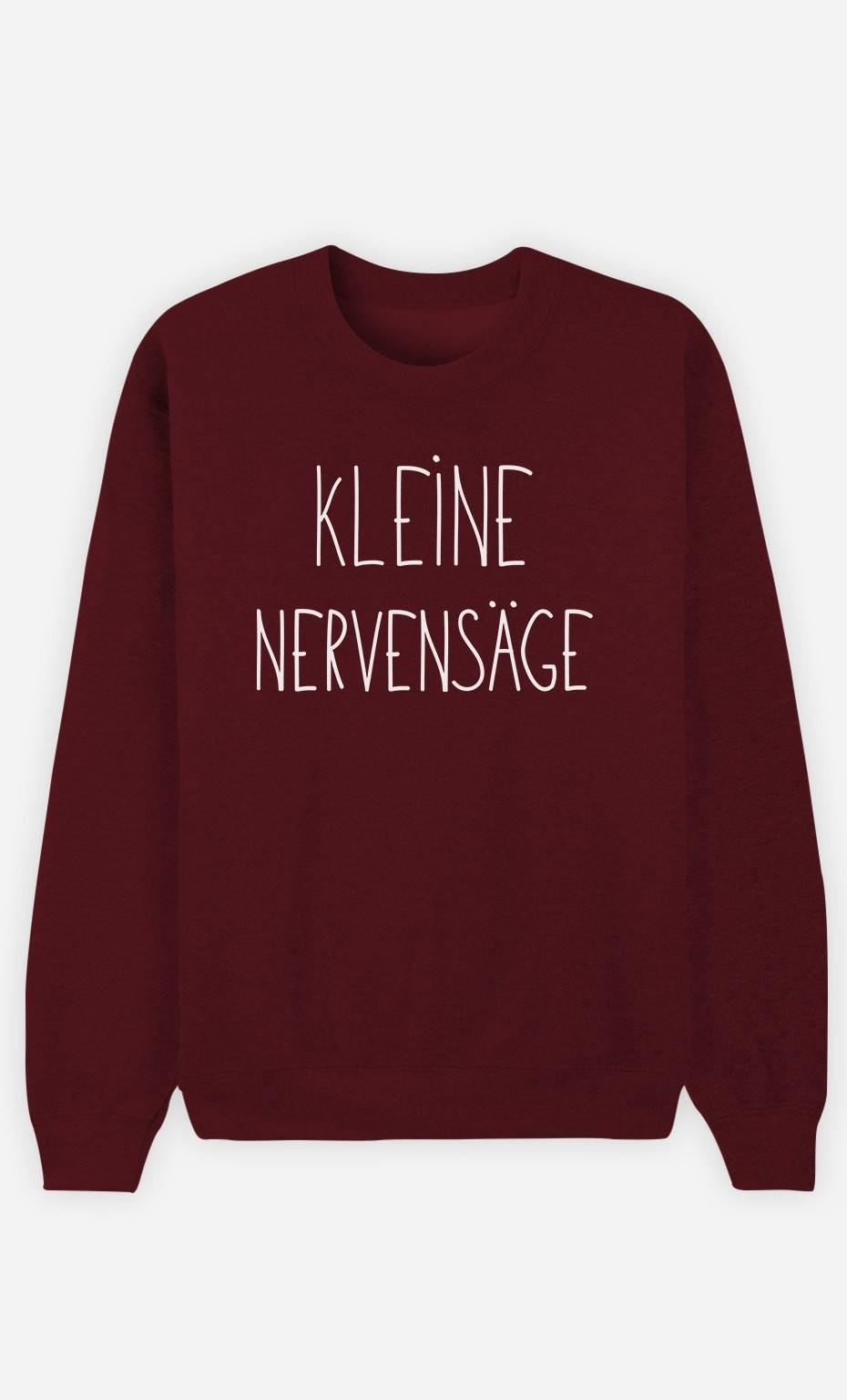 Burgunderrot Sweatshirt Kleine Nervensäge