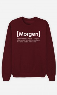 Burgunderrot Sweatshirt Morgen Definition