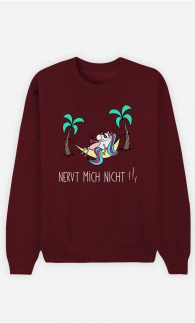 Burgunderrot Sweatshirt Nervt mich nicht