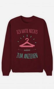 Burgunderrot Sweatshirt Nichts anderes zum anziehen