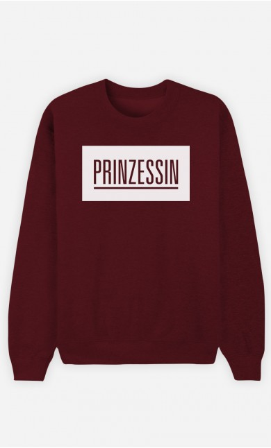 Burgunderrot Sweatshirt Prinzessin
