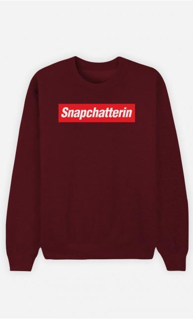Burgunderrot Sweatshirt Snapchatterin