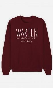 Burgunderrot Sweatshirt Warten