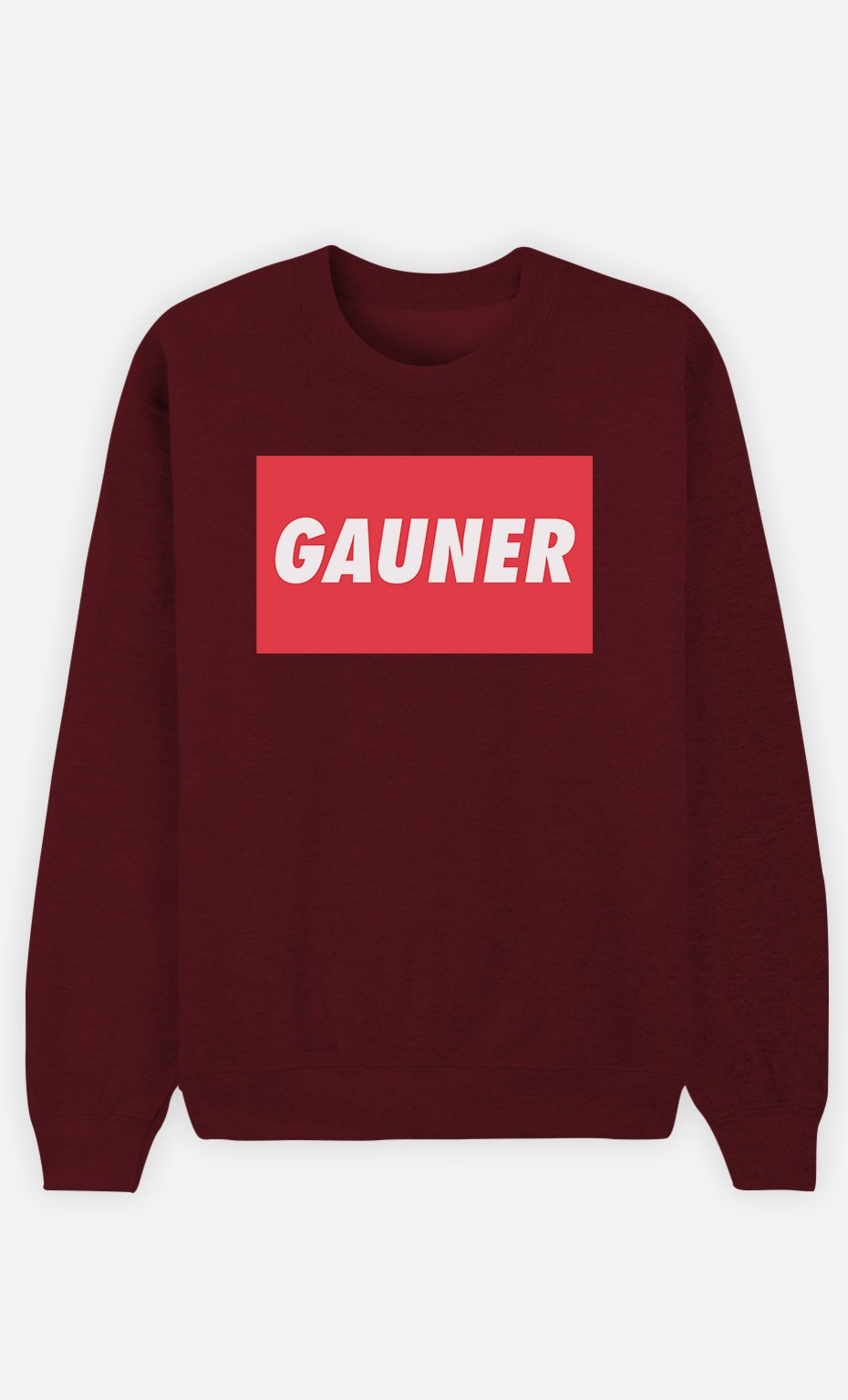 Burgunderrot Sweatshirt Gauner