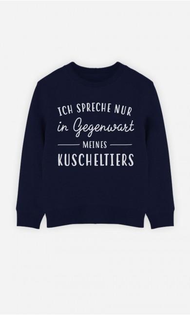 Blaue Sweatshirt Ich Spreche Nur In Gegenwart Meines Kuscheltiers