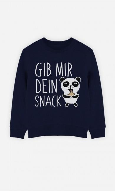 Blaue Sweatshirt Gib Mir Dein Snack