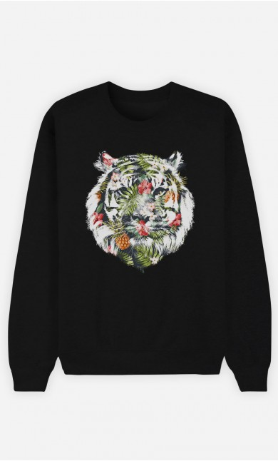 Sweatshirt Schwarz Tropical Tiger