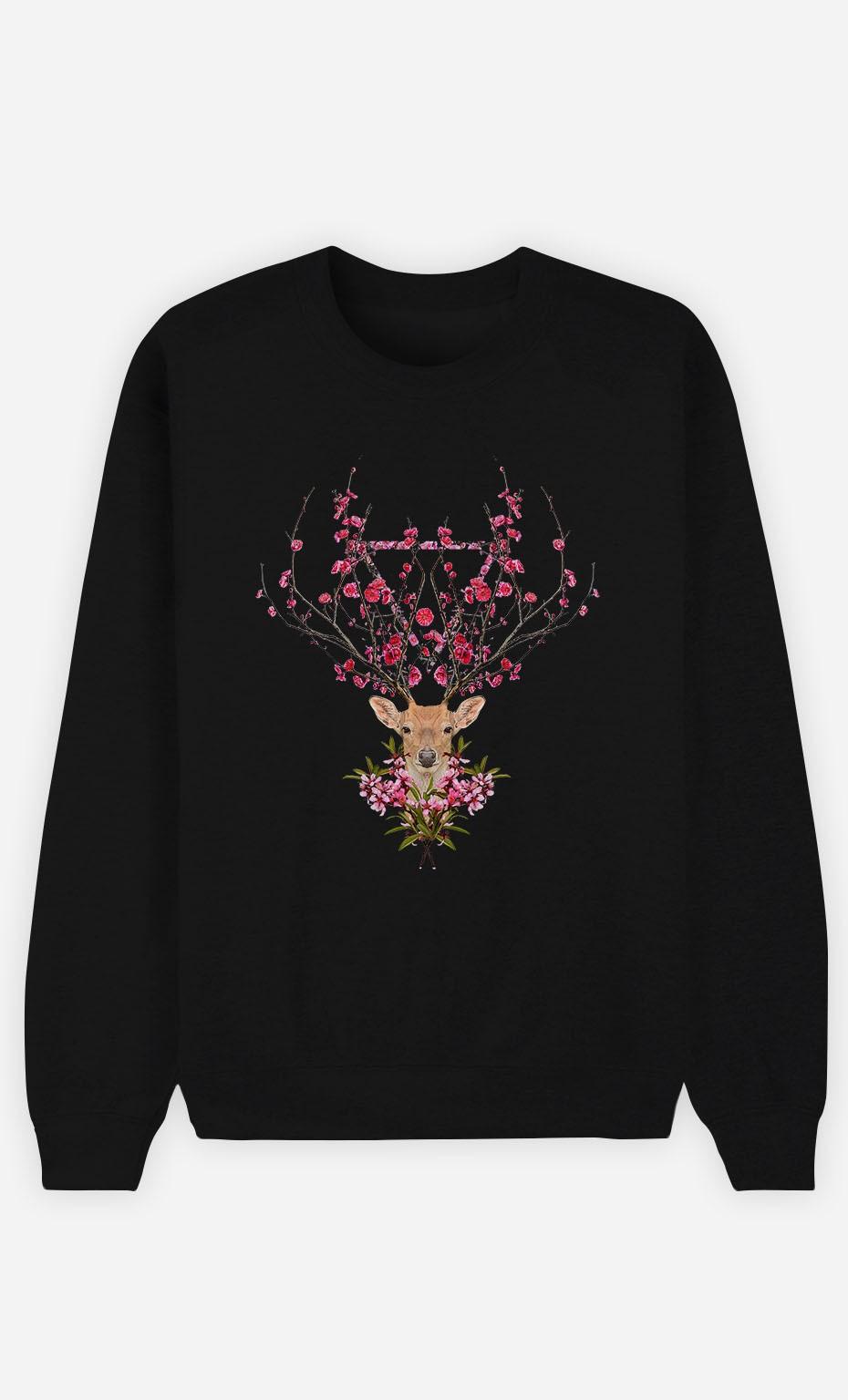 Sweatshirt Schwarz Spring Deer