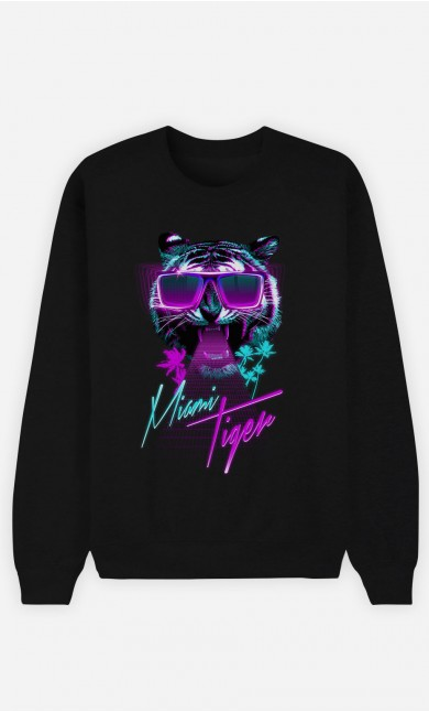 Sweatshirt Schwarz Miami Tiger