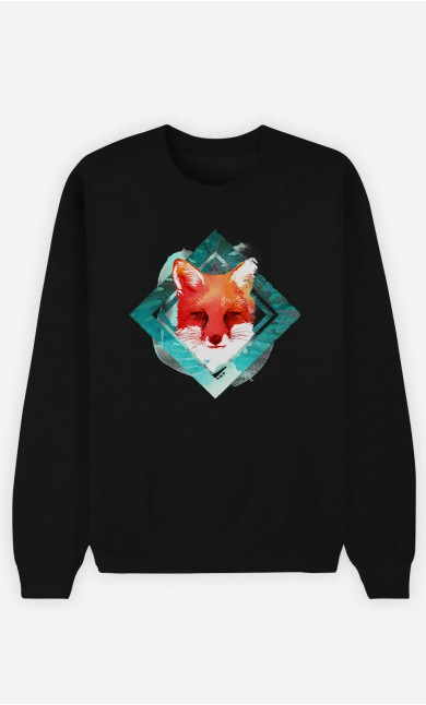 Sweatshirt Schwarz Green Fox