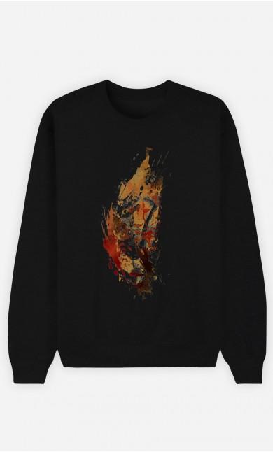 Sweatshirt Schwarz Cheetah