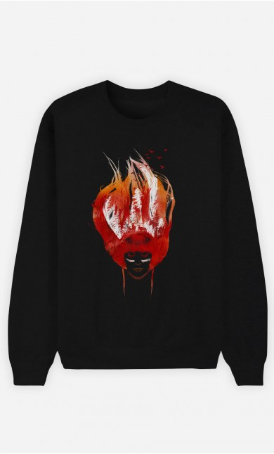 Sweatshirt Schwarz Burning Forest