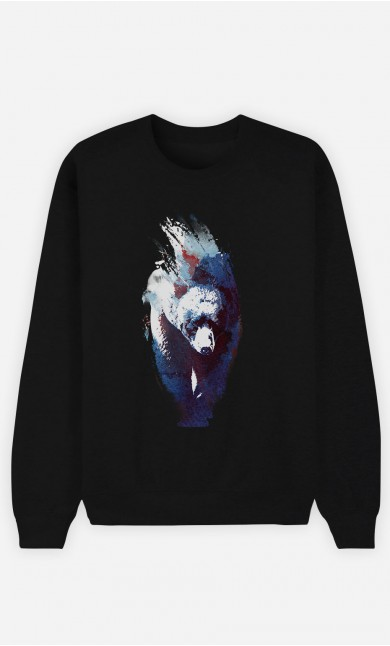Sweatshirt Schwarz Blue Bear