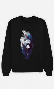 Sweatshirt Schwarz Blue Bear