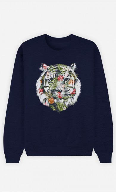 Sweatshirt Blau Tropical Tiger