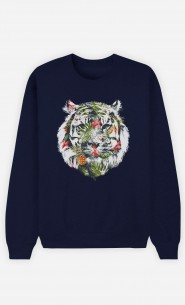 Sweatshirt Blau Tropical Tiger
