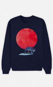 Sweatshirt Blau Red Moon