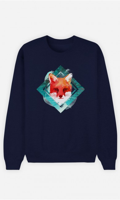 Sweatshirt Blau Green Fox