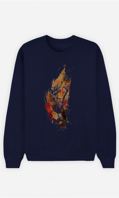 Sweatshirt Blau Cheetah