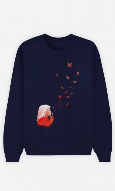 Sweatshirt Blau Butterflies