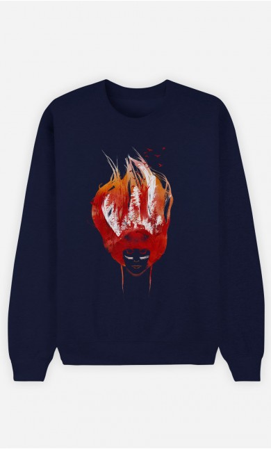 Sweatshirt Blau Burning Forest
