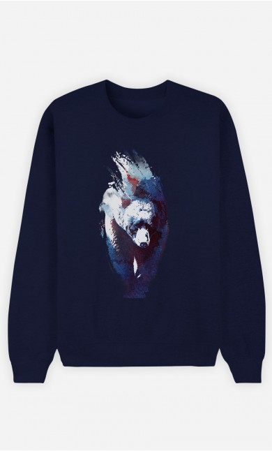 Sweatshirt Blau Blue Bear