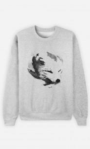 Sweatshirt White Fox Alpha