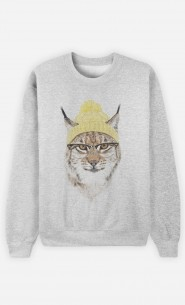 Sweatshirt Geeky Cat