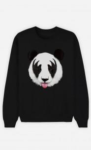 Sweatshirt Schwarz Panda Kiss