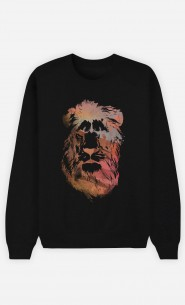 Sweatshirt Schwarz Desert Lion