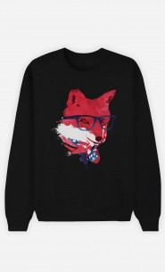 Sweatshirt Schwarz American Fox