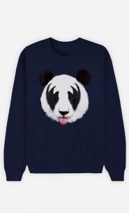 Sweatshirt Blau Panda Kiss