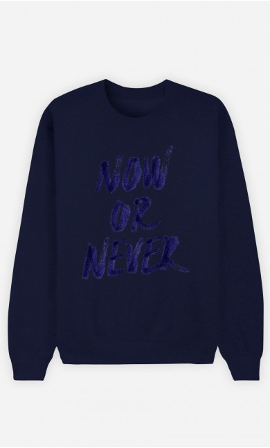 Sweatshirt Blau Now Or Never
