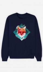 Sweatshirt Blau Green Fox