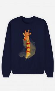 Sweatshirt Blau Elegant Giraffe