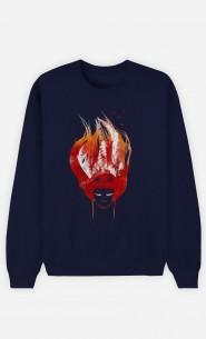 Sweatshirt Blau Burning Forest
