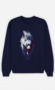 Sweatshirt Blau Blue Bear